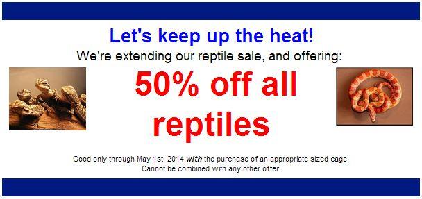 Reptile Sale April 2014