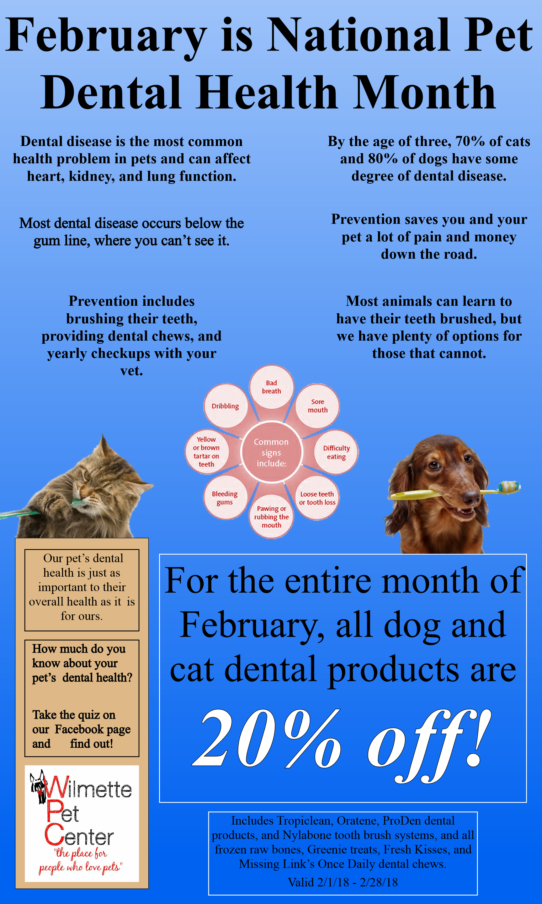 February is National Pet Dental Care Month!   Wilmette Pet ...